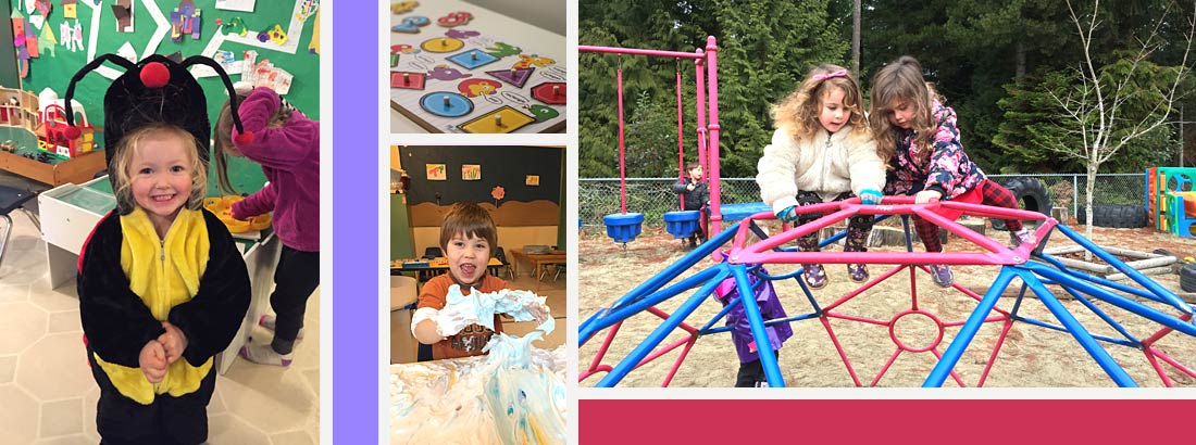 Halfmoon Bay daycare - art and play activities both indoors and out